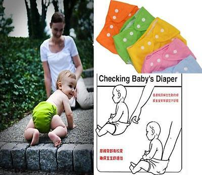 Kids Infant Reusable Washable Baby Cloth Diapers Nappy Cover Adjustable GOUS