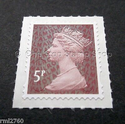 2015 5p M15L Code Machin SINGLE MINT STAMP from Counter Sheet