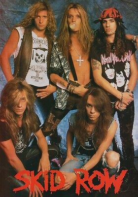 SKID ROW Slave To The Grind PHOTO Print POSTER Band Sebastian Bach Shirt 001