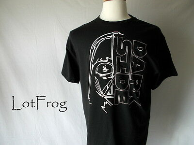 NWT STAR WARS Dark Side TEE SHIRT SS Disney T BLACK Youth Size M Young Mens