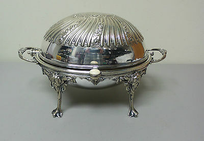 Nice Lee & Wigfull Silver Plated Rolling Dome Breakfast / Buffet Server (#1)