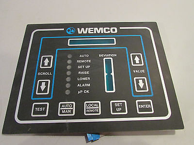 Wemco Pump Controller Display Panel Push Button Face Plate 9'' x 7'' New!