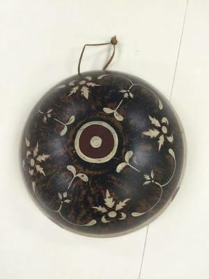 Primative Wooden Wood Bowl Hand Painted Native