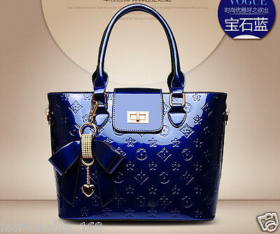 Women's new fashion Satchel Handbag patent leather Embossing tote shoulder bag