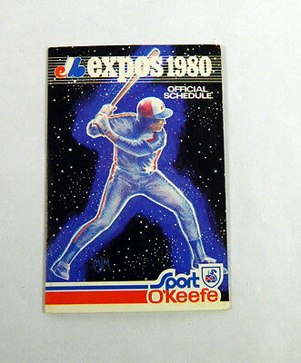 1980 Montreal Expos O'Keefe Beer Baseball Pocket Schedule 112470S