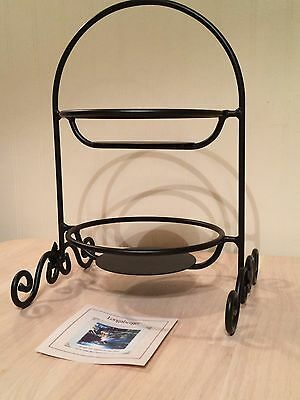 Longaberger Wrought Iron, Maple Leaf Small Two-Pie Server - NEW IN BOX