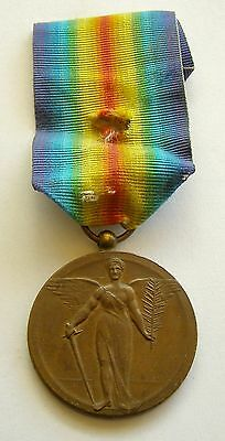 f492 ROMANIA Victory Medal WWI Interallied unofficial version double strike !