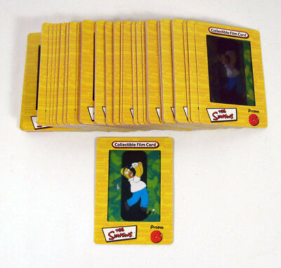 Lot of (100) 2000 Artbox Simpsons FilmCardz UK Promo Card (P2) Golfing Homer