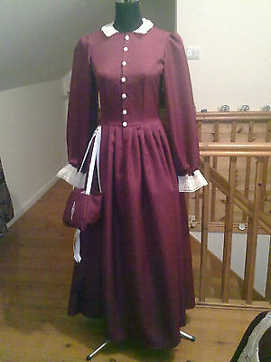 AMERICAN CIVIL WAR/VICTORIAN  DAY DRESS ALL SIZES AND COLOURS 50/50 cotton