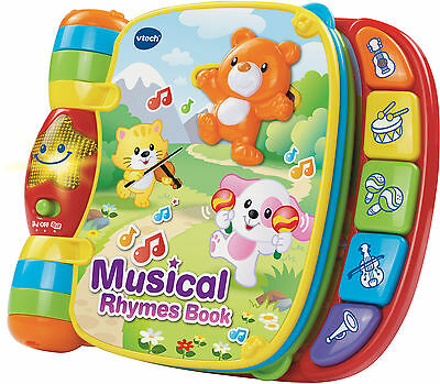 Vtech MUSICAL RHYMES BOOK Baby/Toddler Nursery Rhymes Education BN