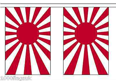 Japan Rising Sun Navy Ensign Polyester Flag Bunting - 3m long with 10 Flags