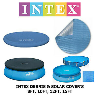 Intex Swimming Pool Debris And Solar Covers 8Ft To 15Ft You Choose Summer Fun