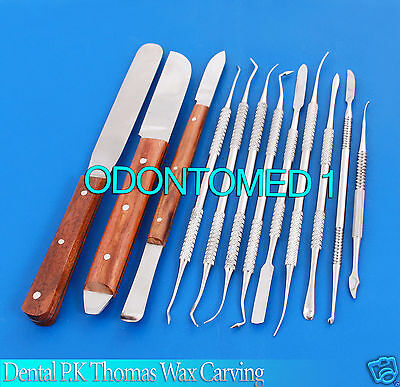 Dental Laboratory Technician Kit P.k Thomas Wax Carving Plaster Knife Spatula