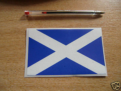 SCOTTISH SALTIRE FLAG -  STICKER/DECAL  125mm x 78mm - SCOTLAND