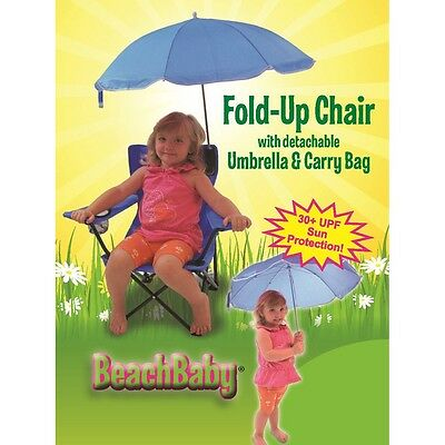 Redmon Kids Camp Chair with Carry Umbrella and matching tote bag, Blue 9106BL-BL