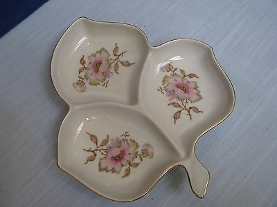 MITTERTEICH BAVARIA XMAS ROSE 3 PART LEAF Serving DISH PLATE RELISH CANDY NUT V
