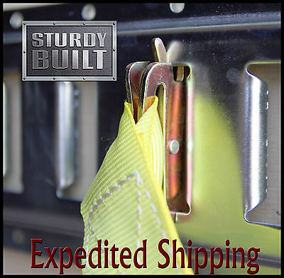 6x E Track Tie Off Rope Cargo Down Straps D Ring Fitting Enclosed Trailer Truck