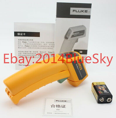 Fluke 59 Mini Handheld Laser Infrared Thermometer Gun -18°C to 275°C (0°Fto52°F)