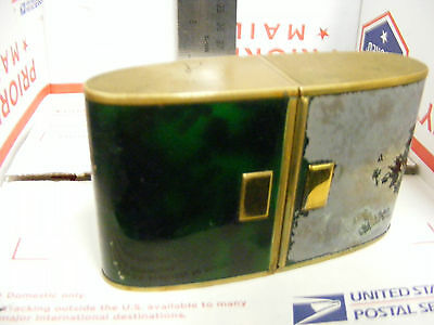 Art Deco Vintage Europa 7 Jewel Travel Sliding Alarm Clock Working