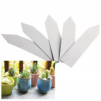 """100PCS Plant Pot Markers Garden Nursery Plastic Stake Tags Seed Blank Labels 4"""""""