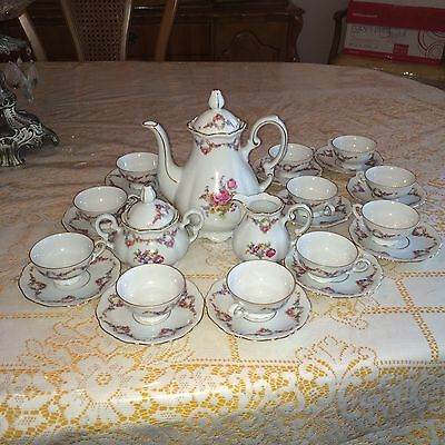 MITTERTEICH BAVARIA ROSELLA VINTAGE TEA SET..SETTING FOR 12