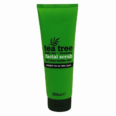 Tea Tree Facial Face Scrub Skin Treatment Fresh Mask Wash 250ml