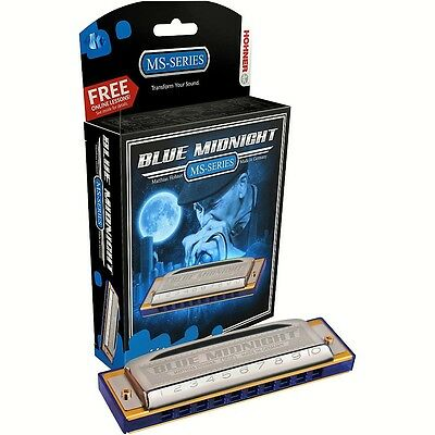 NEW HOHNER MS SERIES 595BL BLUE MIDNIGHT HARMONICA IN KEY OF Bb  MADE IN GERMANY