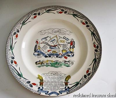 """Burgess Leigh Farmers Arms Round Plate Serving Platter Charger 13.5"""""""