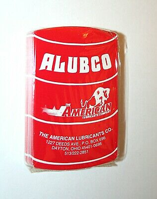 1970s ALUBCO American Lubricants Co. Ohio Oil Drum Deck Of Cards New Sealed