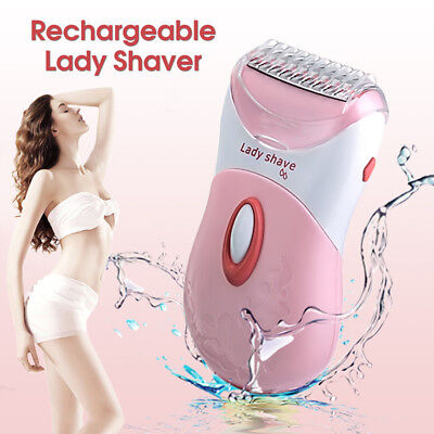 Washable Wet/Dry Rechargeable Electric Women Lady Shaver Trimmer Hair Removal
