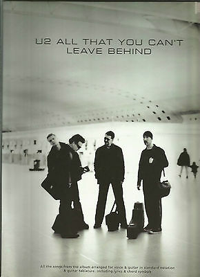 U2 All That You Can't Leave Behind  Spartiti