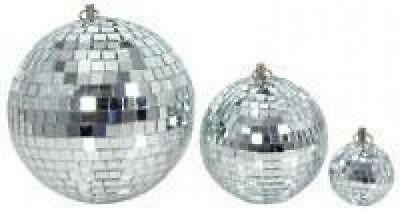QTX 151.582 Glass 15cm Diameter Club Disco Mirror Ball Glittering Effect Display