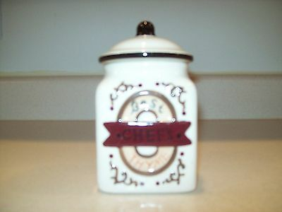 "Beautiful Vintage ""Home Interiors"" Small Canister"