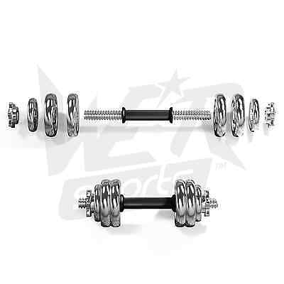 Chrome Dumbbell Set Gym Free Weights Biceps Gym Workout Training Fitness Workout