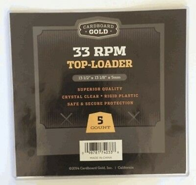 3 Packs (15) Vinyl Record Toploader Outer Sleeves Album Covers 33rpm LP CBG NEW
