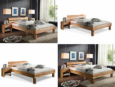 bett mit kopfteil holz massiv holzbett 100 140 160 180 x 200 cm eiche buche eur 239 00. Black Bedroom Furniture Sets. Home Design Ideas