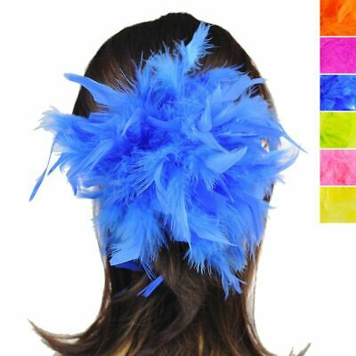 Girls Hen Party Feather Hair Scrunchie Quality Costume Elastic Pony Tail Band