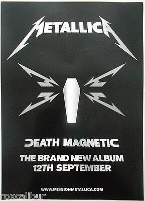 METALLICA Death Magnetic The New Album Rare Orig Official UK Record Co POSTER