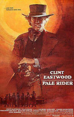 """PALE RIDER"" Clint Eastwood Classic Western Movie Poster A1A2A3A4Size"