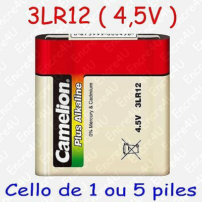 Pile Alcaline Plus version 3LR12 3R12 LR12 R12 MN1203 4,5V 4,5 volts x 1 ou x 5