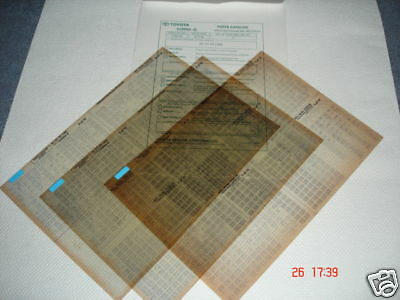 Toyota Carina E At, Ct, St Parts Microfiche Full Set Of 10 - Dated October 1994