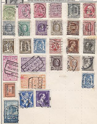 BELGIUM Old  Stamp Collection  Used REF:Q172