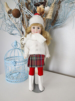 Effanbee doll 1981 Four Seasons Winter White coat & boots red plaid skirt