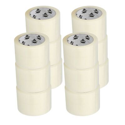 12 Rolls 3 Inch x 110 Yards (330 ft) Clear Packing Tape 1.6 Mil Thick