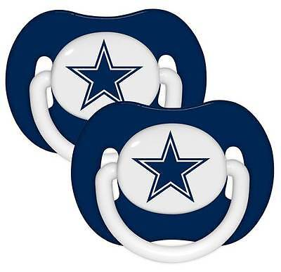 Dallas Cowboys Pacifiers 2 Pack Set Infant Baby Fanatic BPA Free NFL