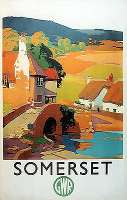 SOMERSET...  Vintage GWR Railway Poster 3 A1,A2,A3,A4 Sizes