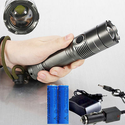 2500LM CREE XM-L T6 LED Rechargeable Flashlight Torch w/ 18650 Battery & Charger