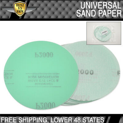 x10 Pc Wet Dry Green Sanding Disc Collision Repair Sanding Paper 2000 Grit 5Inch
