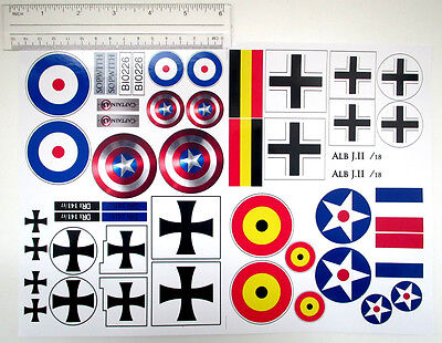 CUSTOM PLANES STICKERS LOT for MODELS, TOYS, 10226 SCALE SIZE SETS