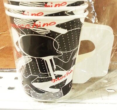 150 paper cup coffee capuhino mocha with holder 6.50 OZ picnic camping party